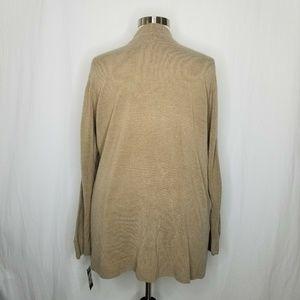 Karen Scott Sweaters - Karen Scott Open-Front Cardigan  Chestnut Heather